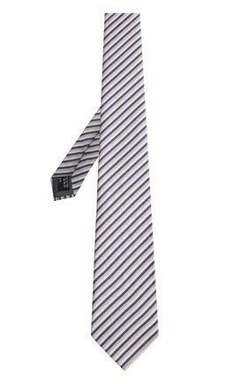 Мужской шелковый галстук в полоску GIORGIO ARMANI разноцветного цвета, арт. 360054/8P802 | Фото 2