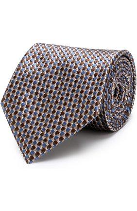 Мужской шелковый галстук с узором BRIONI разноцветного цвета, арт. 062I00/P7484   Фото 1 (Материал: Шелк, Текстиль; Статус проверки: Проверено; Принт: С принтом)