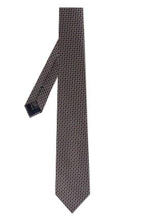 Мужской шелковый галстук с узором BRIONI разноцветного цвета, арт. 062I00/P7484   Фото 2 (Материал: Шелк, Текстиль; Статус проверки: Проверено; Принт: С принтом)