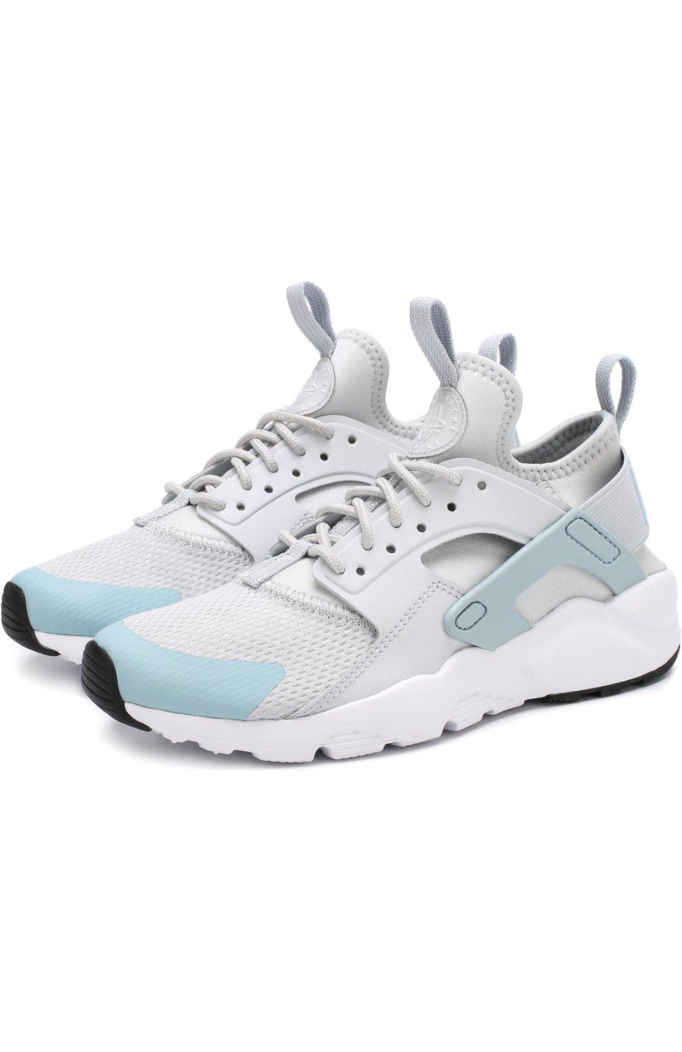 c94b6028 Детские текстильные кроссовки nike air huarache ultra Nike светло-серого  цвета   Фото №1