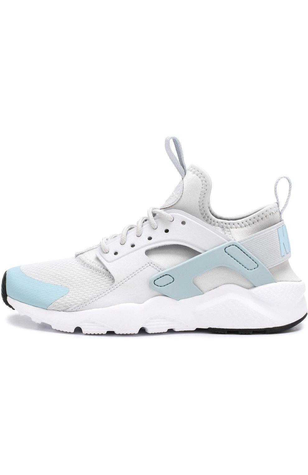 1762eea0 Детские текстильные кроссовки nike air huarache ultra Nike светло-серого  цвета   Фото №2