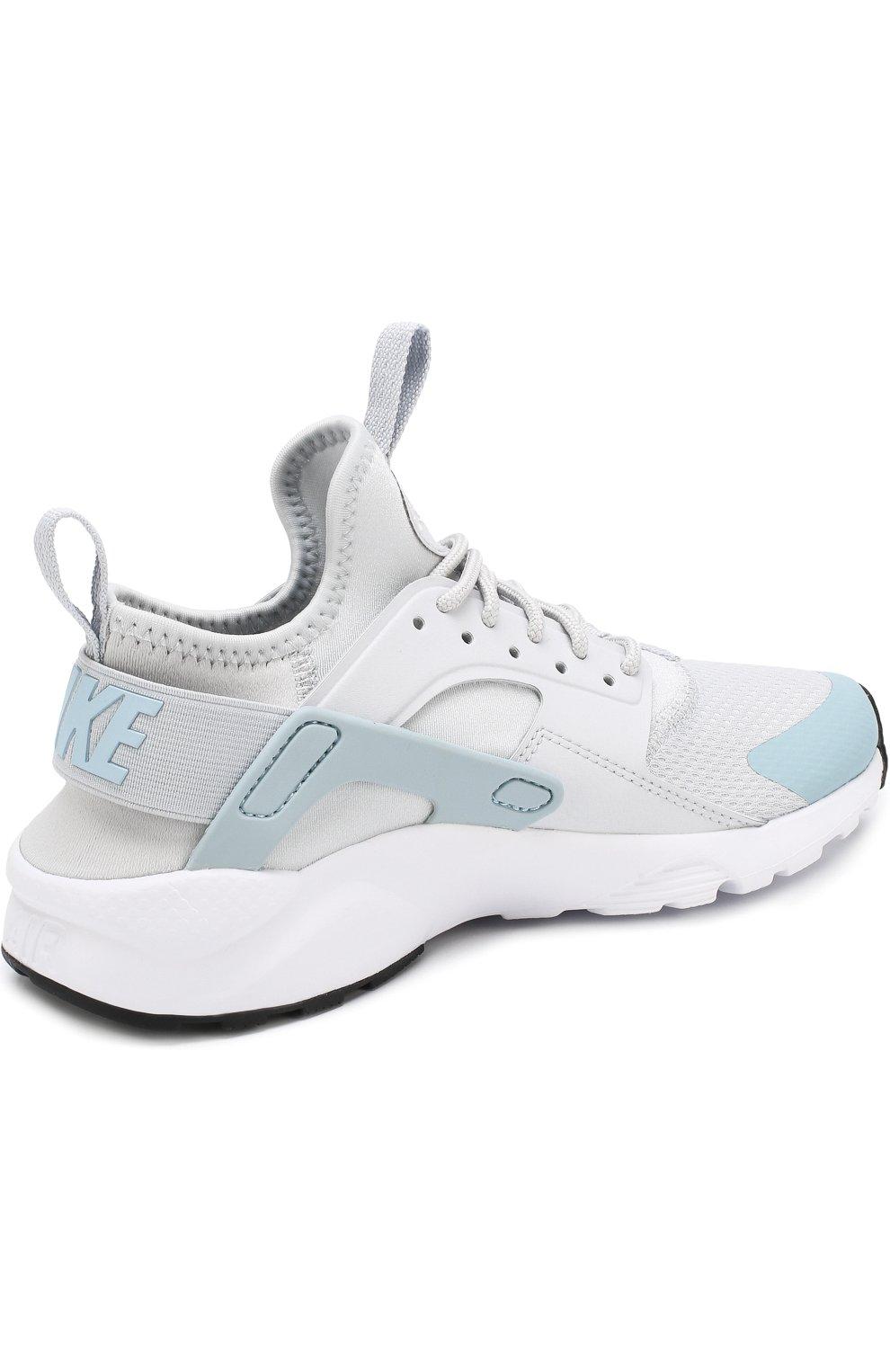dae49850 Детские текстильные кроссовки nike air huarache ultra Nike светло-серого  цвета   Фото №3
