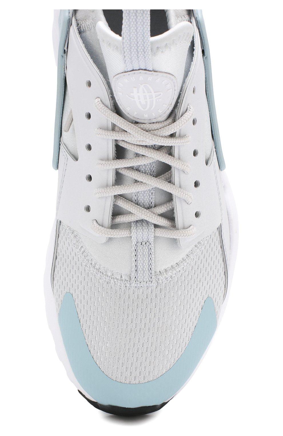 89bba554 Детские текстильные кроссовки nike air huarache ultra Nike светло-серого  цвета   Фото №4