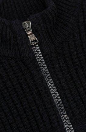 Кардиган из шерсти и кашемира фактурной вязки на молнии   Фото №3