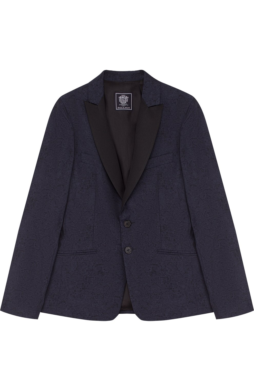 Однобортный пиджак из хлопка и шерсти   Фото №1