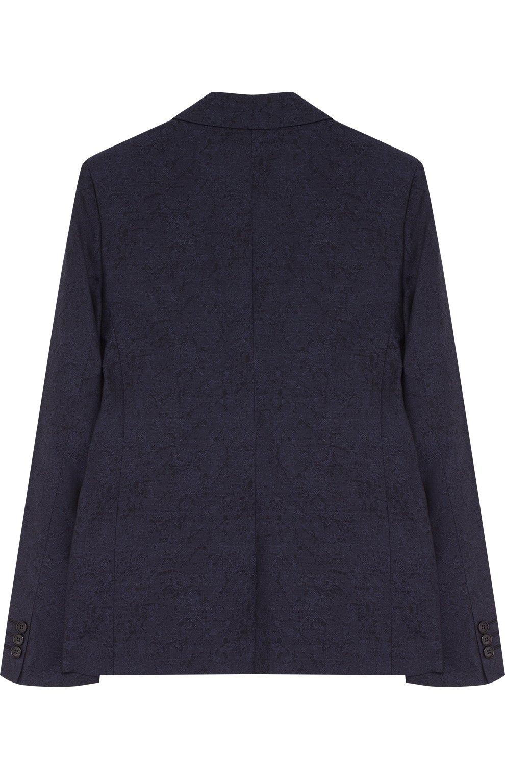 Однобортный пиджак из хлопка и шерсти   Фото №2