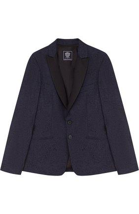 Однобортный пиджак из хлопка и шерсти | Фото №1