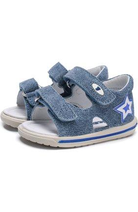 Текстильные сандалии с застежками велькро | Фото №1