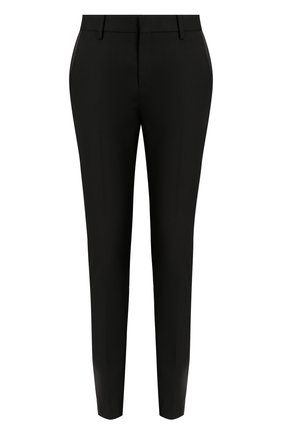 Шерстяные укороченные брюки с карманами | Фото №1