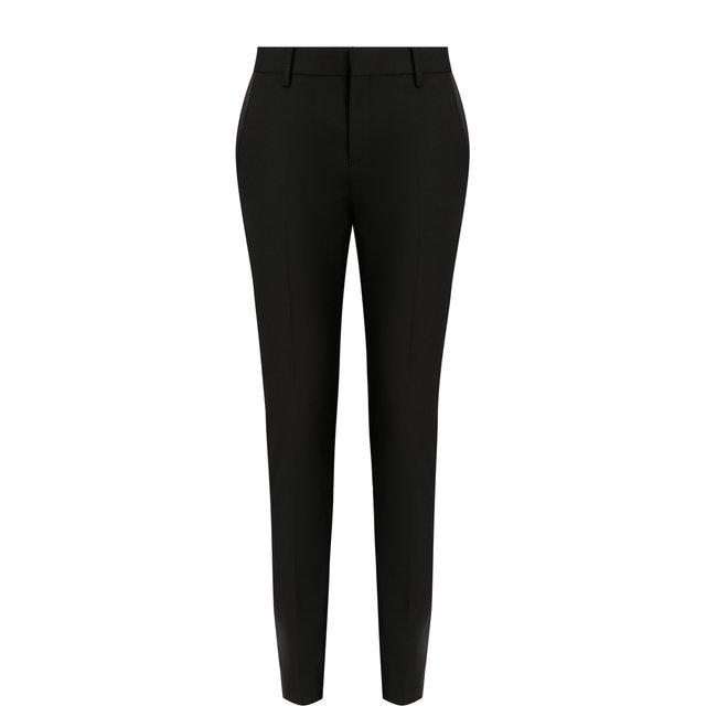 Шерстяные укороченные брюки с карманами Saint Laurent