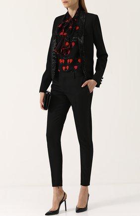 Шерстяные укороченные брюки с карманами | Фото №2