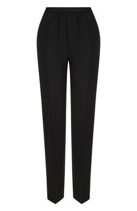 Укороченные однотонные брюки со стрелками Maison Margiela черные | Фото №1