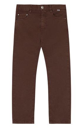 Хлопковые брюки с эластичной вставкой на поясе | Фото №1
