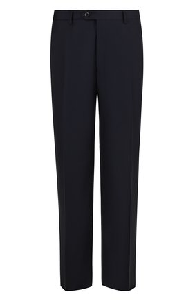 Мужской шерстяные брюки прямого кроя BRIONI темно-синего цвета, арт. RPL16S/PZA0P/C0RTINA | Фото 1