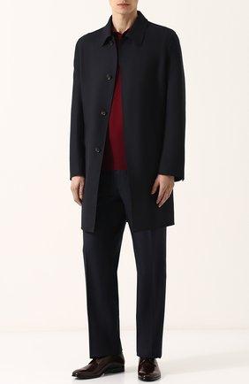 Мужской шерстяные брюки прямого кроя BRIONI темно-синего цвета, арт. RPL16S/PZA0P/C0RTINA | Фото 2