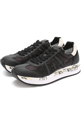 Комбинированные кроссовки Conny на шнуровке | Фото №1