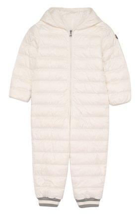 Детский пуховый комбинезон с капюшоном MONCLER ENFANT белого цвета, арт. D1-951-14349-05-53048/18M-3A | Фото 1