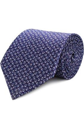 Мужской комплект из галстука и платка LANVIN фиолетового цвета, арт. 4000/TIE SET   Фото 1