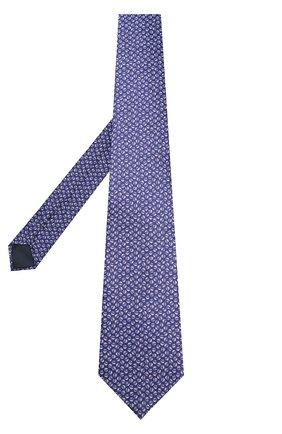 Мужской комплект из галстука и платка LANVIN фиолетового цвета, арт. 4000/TIE SET   Фото 2