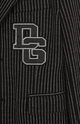 Однобортный пиджак из хлопка и кашемира и нашивкой   Фото №3