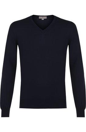 Мужской хлопковый пуловер CANALI темно-синего цвета, арт. C0029/MK00145 | Фото 1