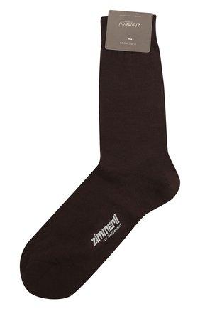 Мужские шерстяные носки ZIMMERLI коричневого цвета, арт. 2541 | Фото 1