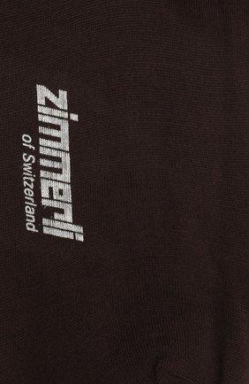 Мужские шерстяные носки ZIMMERLI коричневого цвета, арт. 2541 | Фото 2