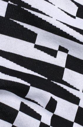 Хлопковый шарф в контрастную полоску Off-White черно-белый | Фото №1