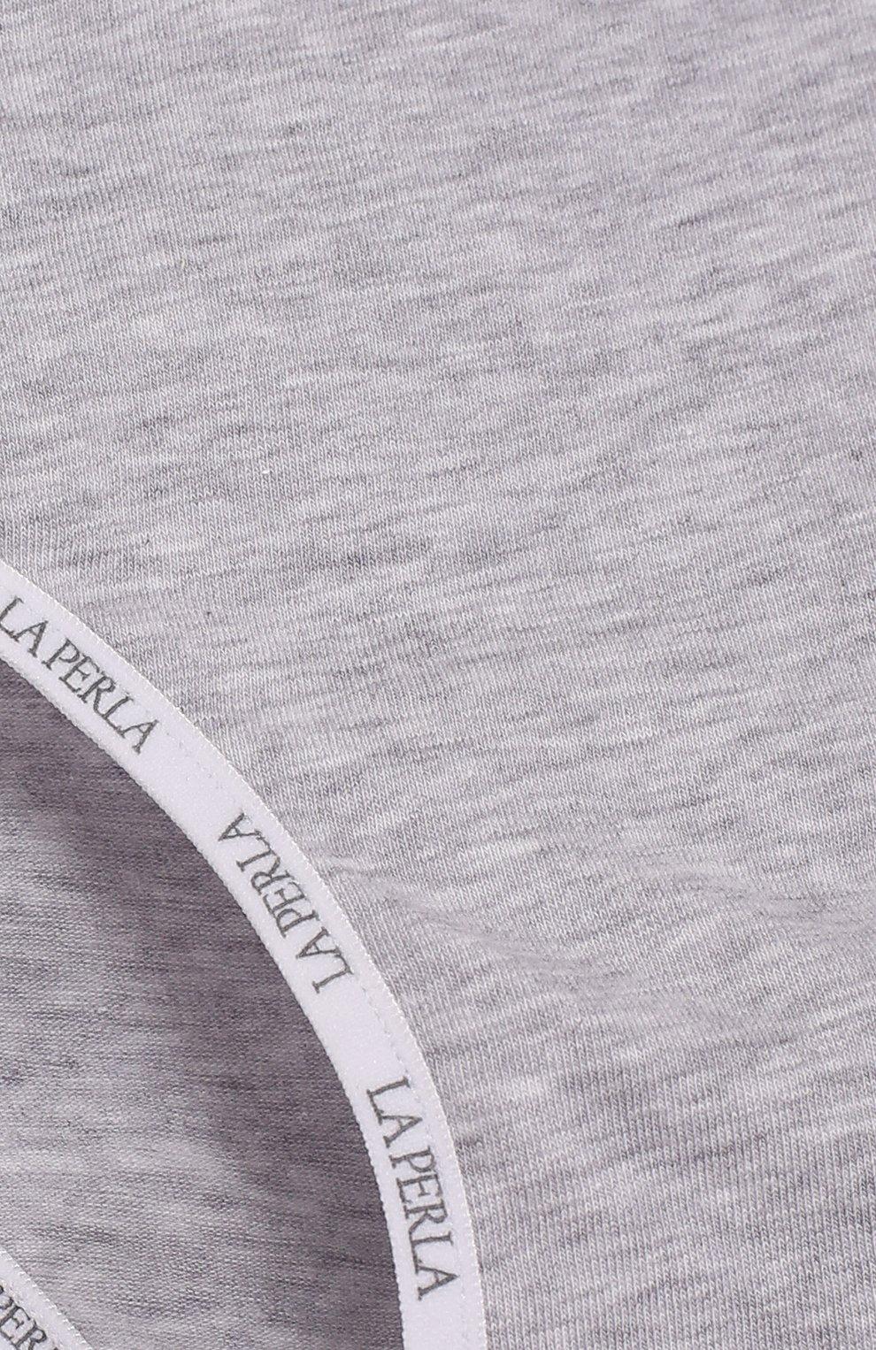 Детские трусы-слипы с логотипом бренда LA PERLA серого цвета, арт. 51327/2A-6A | Фото 3