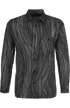 Плиссированная рубашка с принтом | Фото №1
