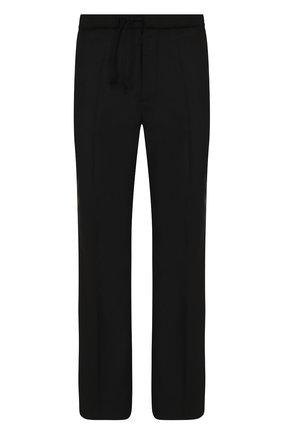 Шерстяные брюки прямого кроя Maison Margiela черные | Фото №1