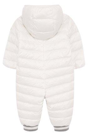 Детский пуховый комбинезон с капюшоном MONCLER ENFANT белого цвета, арт. D1-951-14349-05-53048/3M-18M | Фото 2