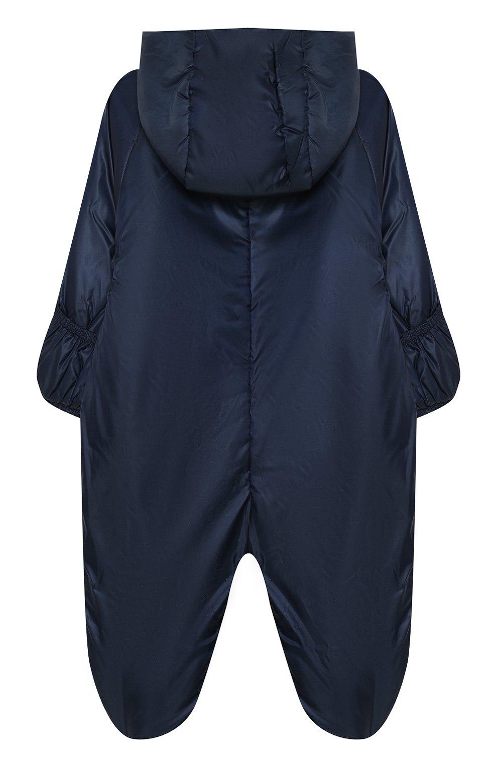 Детский комбинезон с капюшоном и вышивкой CHEPE синего цвета, арт. 391174   Фото 2