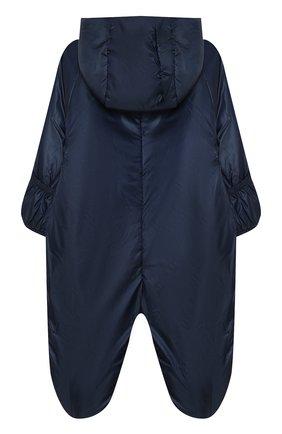 Детский комбинезон с капюшоном и вышивкой CHEPE синего цвета, арт. 391174 | Фото 2