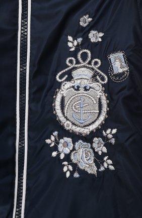 Детский комбинезон с капюшоном и вышивкой CHEPE синего цвета, арт. 391174   Фото 3