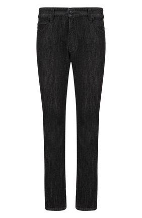 Мужские джинсы прямого кроя GIORGIO ARMANI черного цвета, арт. 3ZSJ15/SD30Z | Фото 1