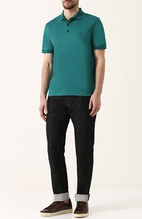 Мужские джинсы прямого кроя GIORGIO ARMANI черного цвета, арт. 3ZSJ15/SD30Z | Фото 2
