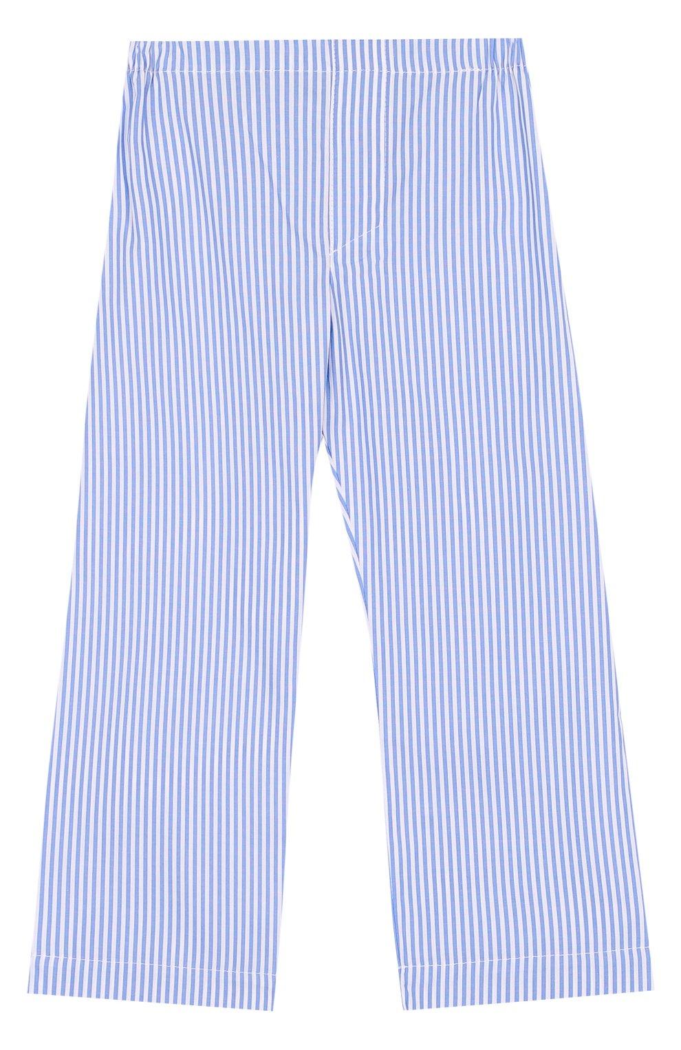 Хлопковая пижама в полоску | Фото №4