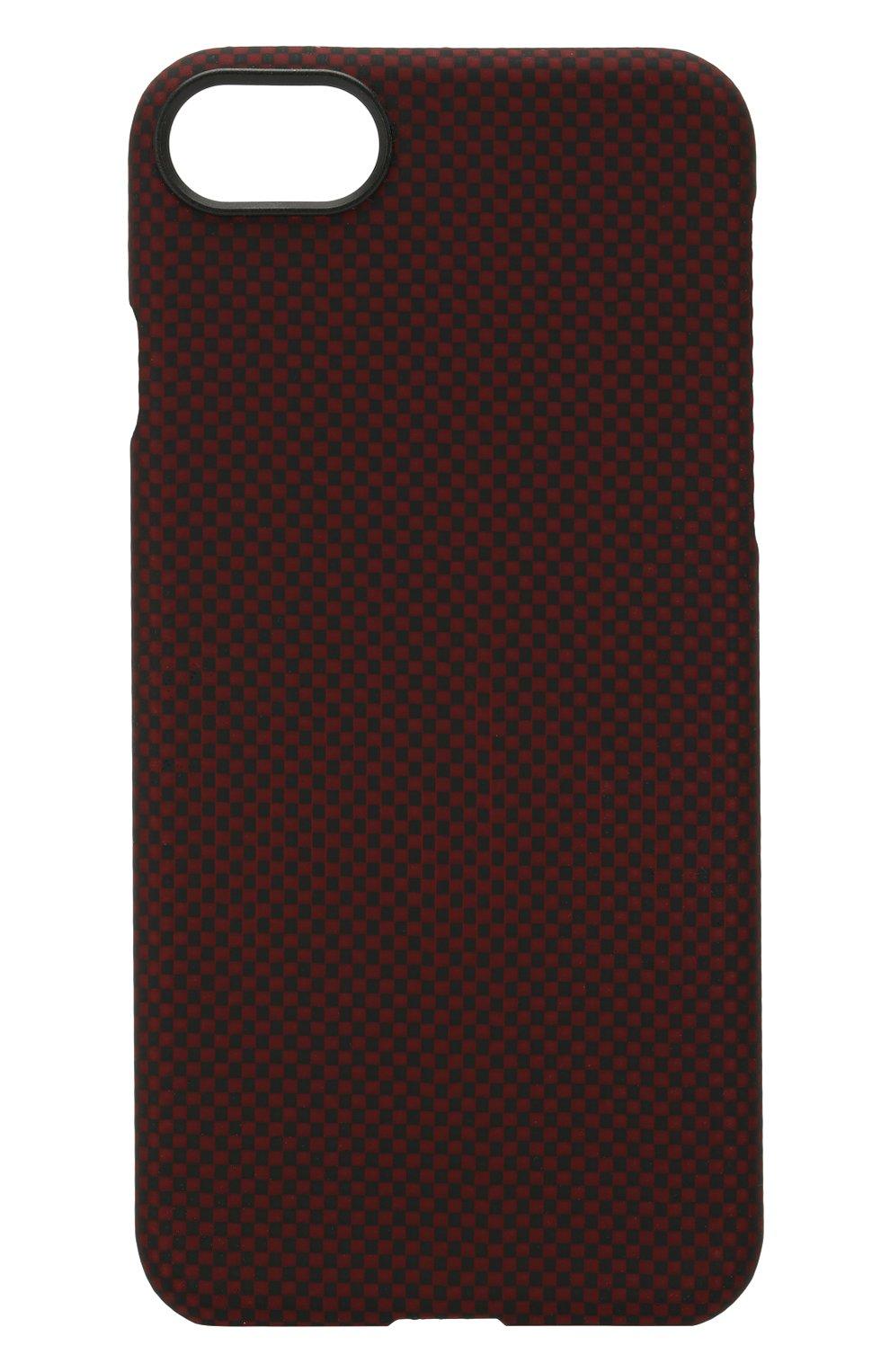 Мужской чехол для iphone 7/8 из кевларовой нити PITAKA красного цвета, арт. KI7004   Фото 1