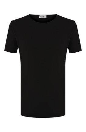 Мужская хлопковая футболка с круглым вырезом ZIMMERLI черного цвета, арт. 172-1461 | Фото 1