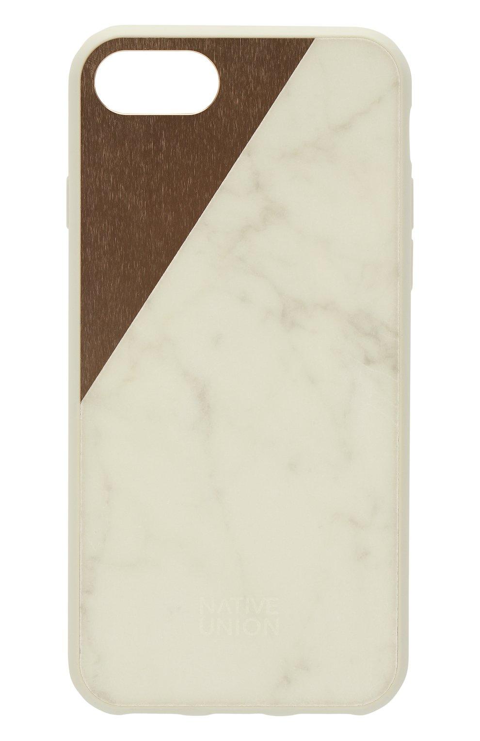 Чехол для iPhone 7/8 с покрытием из мрамора Native Union  | Фото №1