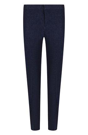 Джинсы прямого кроя Thom Browne темно-синие | Фото №1