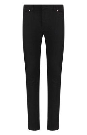 Однотонные джинсы скинни | Фото №1