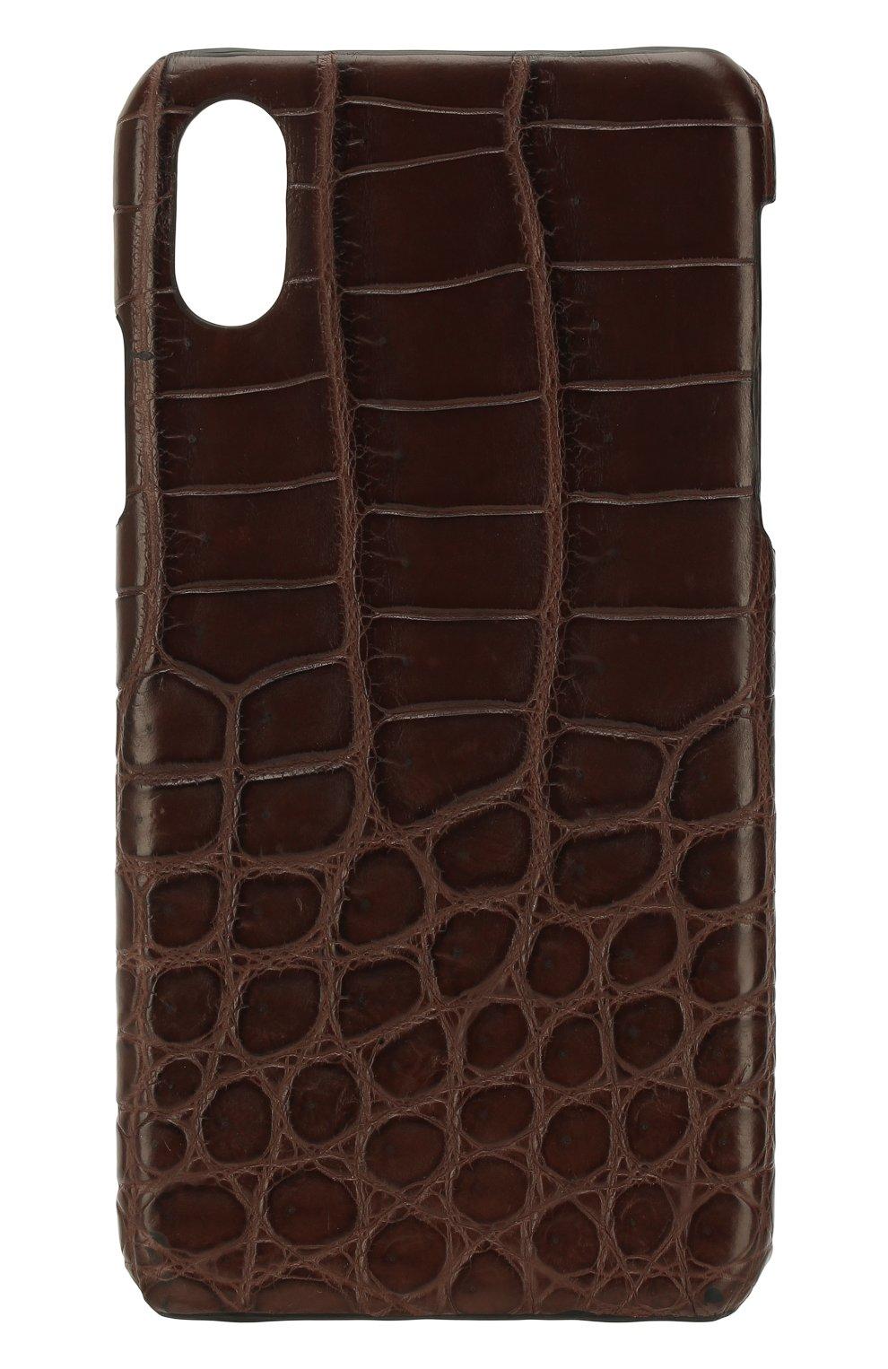 Чехол для iPhone X с отделкой из кожи крокодила   Фото №1