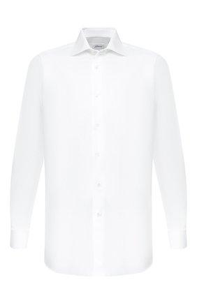Мужская хлопковая сорочка BRIONI белого цвета, арт. RCL9B2/PZ034 | Фото 1