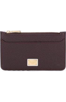 Кожаный футляр для кредитных карт с отделением на молнии   Фото №1