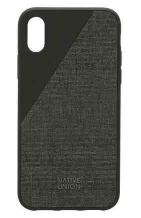 Чехол для iPhone Х с текстильной отделкой | Фото №1