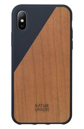 Чехол для iPhone Х с деревянной отделкой   Фото №1