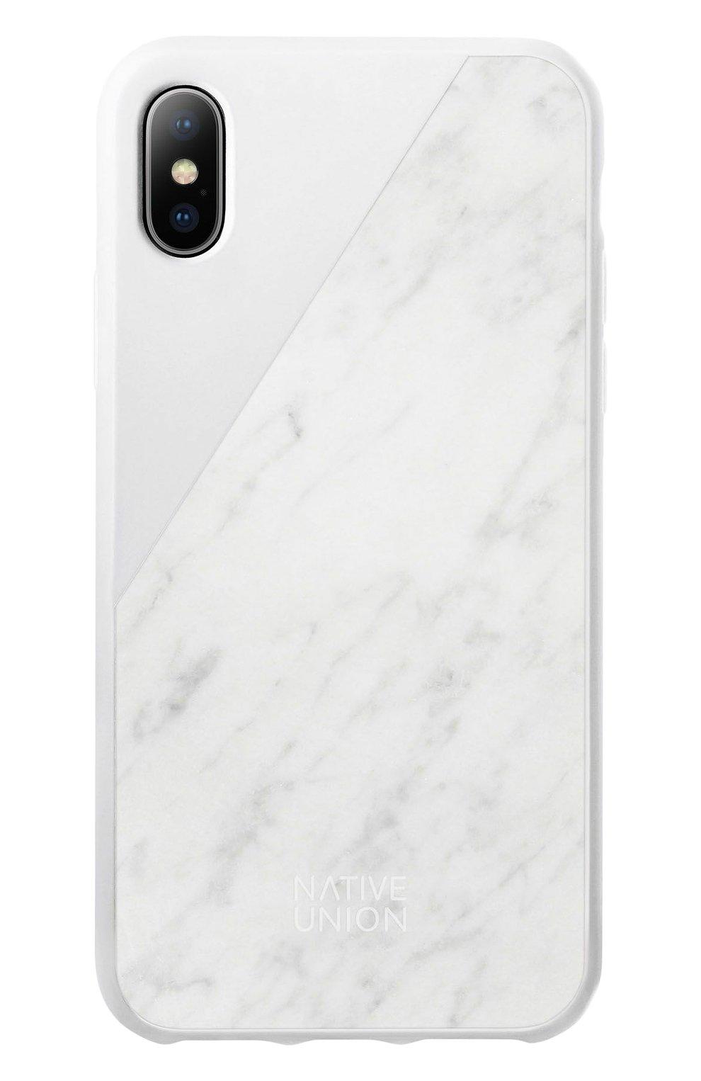 Чехол для iPhone Х с покрытием из мрамора | Фото №1