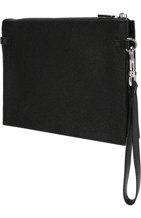 Мужская кожаный футляр для документов valentino garavani с принтом VALENTINO черного цвета, арт. PY2P0P09/HFY | Фото 2